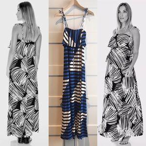 Imanimo ruffle bandeau maxi maternity dress